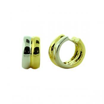 Elegant Yellow and White Gold hoop earrings