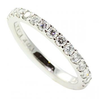 Elegant designer Diamond and White Gold wedding band