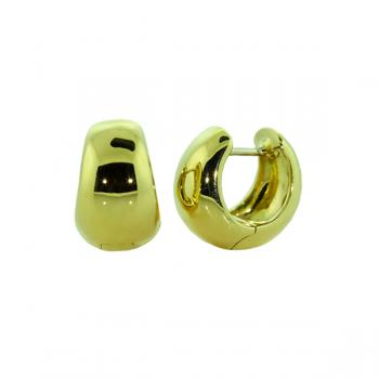 Classic Yellow Gold tapered-hinge earrings for all occasions