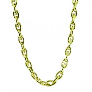 "Beautiful 18"" polished Yellow Gold necklace with a hidden clasp"