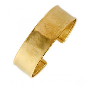 14K HAMMERED GOLD CUFF BRACELET