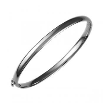 14K WHITE GOLD BANGLE BRACELET