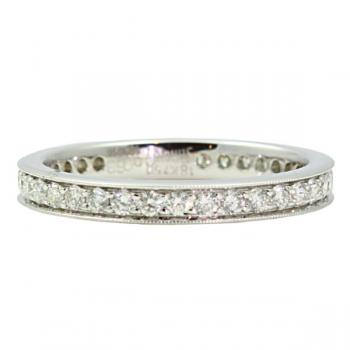 Charming designer Diamond eternity wedding band