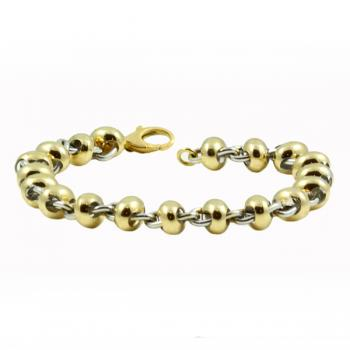 Beautiful Yellow and White Gold bracelet-perfect for the boardroom and the country club