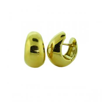"Luscious polished Yellow Gold ""huggie"" earrings"