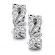 Dazzling designer Diamond earrings set in White Gold