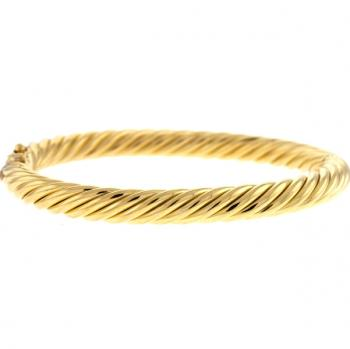 18K GOLD BANGLE BRACELET