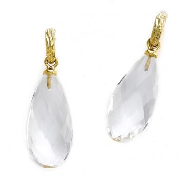 18K GOLD DROP CRYSTAL EARRINGS