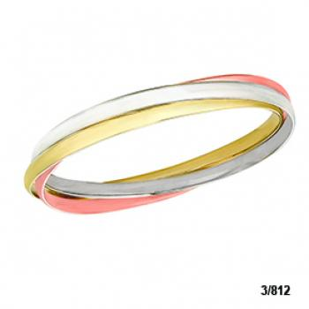 18K PINK, WHITE AND YELLOW GOLD BRACELET