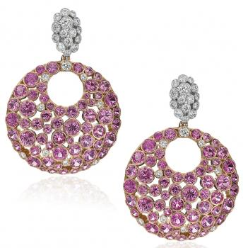 18K PINK GOLD AND PINK SAPPHIRE EARRINGS