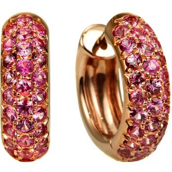 18K ROSE GOLD AND PINK SAPPHIRE EARRINGS