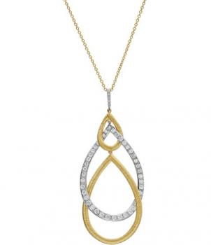 18K TWO TONE GOLD AND DIAMOND PENDANT