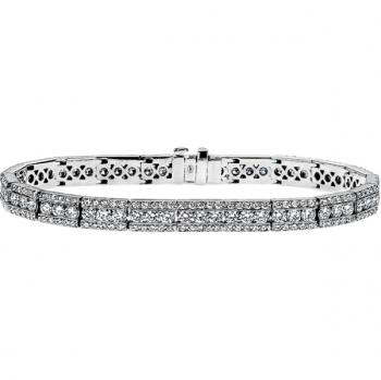 18K WHITE GOLD AND DIAMOND BRACELET