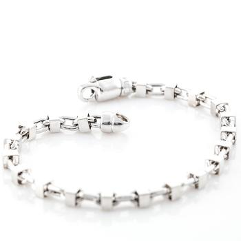 18K WHITE GOLD EUROPEAN CHAIN BRACELET