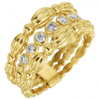 18K YELLOW GOLD AND DIAMOND FASHION RING