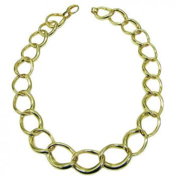 18K YELLOW GOLD CLASSIC LINK NECKLACE