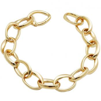 CLASSIC 18K YELLOW GOLD LINK BRACELET