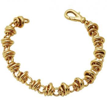 18K YELLOW GOLD TWIST LINK BRACELET