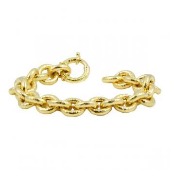 Bold solid Gold chain-link bracelet