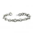 Popular White Gold chain link bracelet-perfect for any occasion