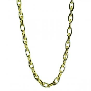 "Stylish all-occasion 17"" Yellow and White Gold chain necklace"