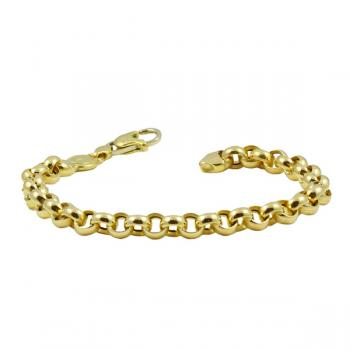 Classic Yellow Gold chain-link bracelet perfect at the office or a night out