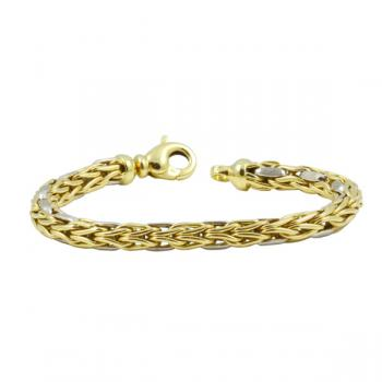 "Elegant, sophisticated 7.5"" two-toned Gold bracelet"