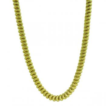 "Impressive 17.5"" textured Yellow Gold necklace"