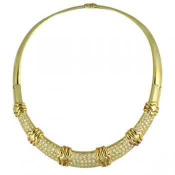 Distinctive Diamond and Gold 'Collar' necklace