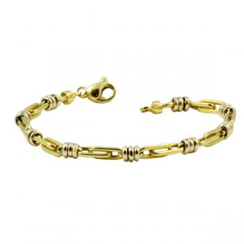"Stylishly cool 7.5"" Gold bracelet"