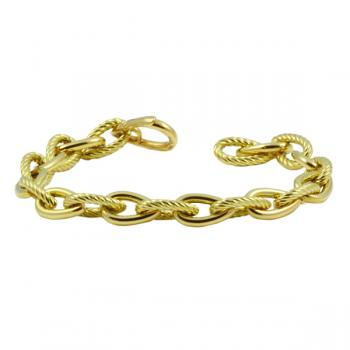 Classically elegant chain-link Gold bracelet
