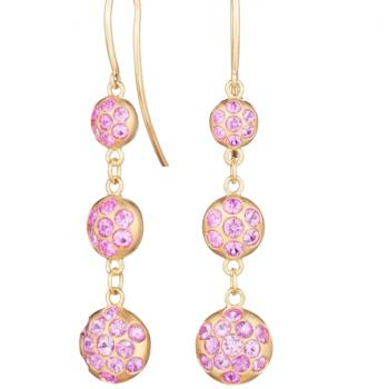 Uniquely sophisticated drop earrings with Pink Sapphires