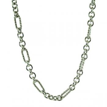 "Popular White Gold 16"" link chain"