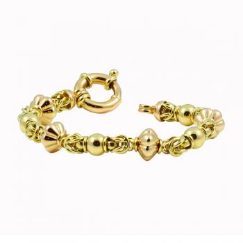 Fashionable two-toned Yellow and Rose Gold bracelet