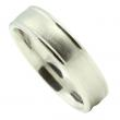 Elegant comfort-White Gold man's wedding band