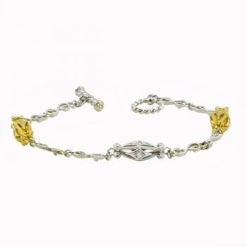 Charming two-toned Gold and diamond bracelet
