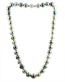 Radiantly impressive Multi-Colored South Sea Pearl necklace