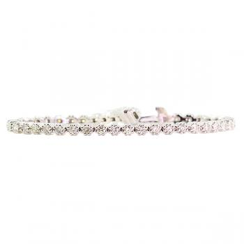 Stunningly beautiful bracelet with 43 Diamonds set in White Gold