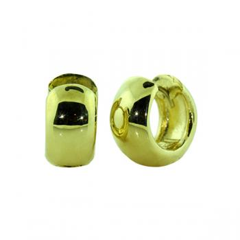 "Elegantly simple gold ""huggie"" earrings"