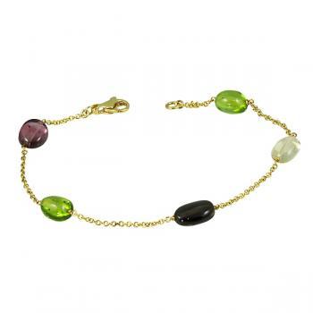 Darling multi-colored pebble Tourmaline bracelet