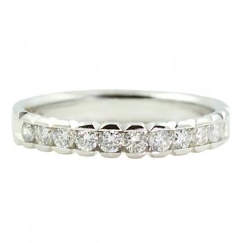 Enticing channel-set Diamond wedding band