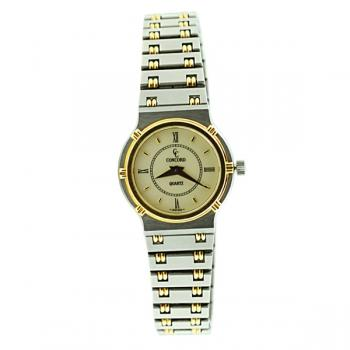 Chic Concord ladies' watch in 18K Gold and Steel-Quartz, water resistant and Sapphire Crystal.  Excellent condition