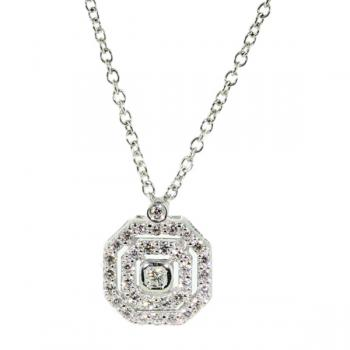 Enticing Diamond and White Gold charmingly delicate necklace