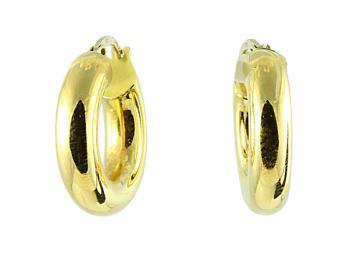 Simply lovely 27MM 18K Yellow Gold hoop earrings