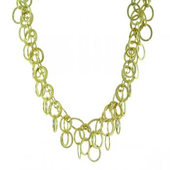 Fashionable Yellow Gold necklace perfect for the office or an evening out