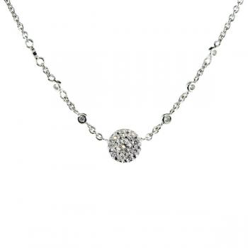 Charming Diamond necklace set in White Gold