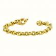 Elegant sophistication-this Gold chain-link bracelet adds a bit of class to all venues