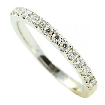 Lusciously striking 24 round Diamond designer wedding band