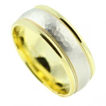 Handsome two-tone comfort fit Man's wedding band