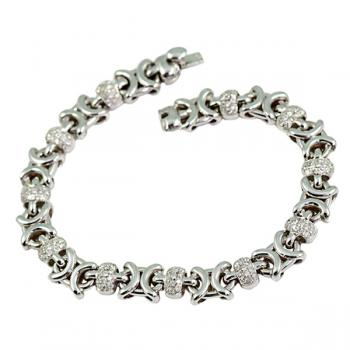 Gorgeous Diamond and White Gold bracelet